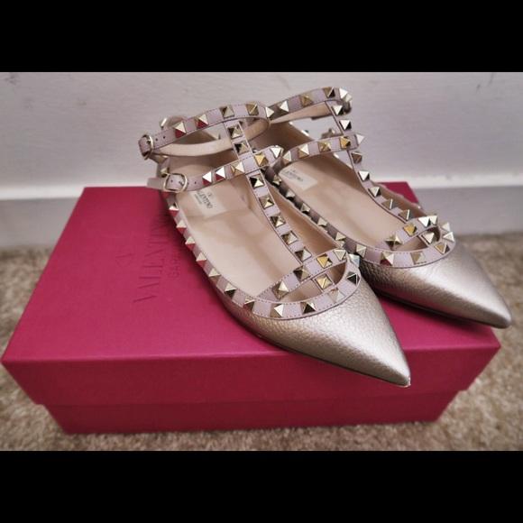 e2be16288a667 Valentino Shoes | Rockstud Metallic Pointy Toe Pumps | Poshmark